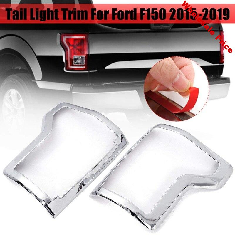 Car Exterior Accessories Pair ABS Rear Tail Light Lamp Frame Cover Trims for Ford F150 F-150 2015 2016 2017 2018 2019