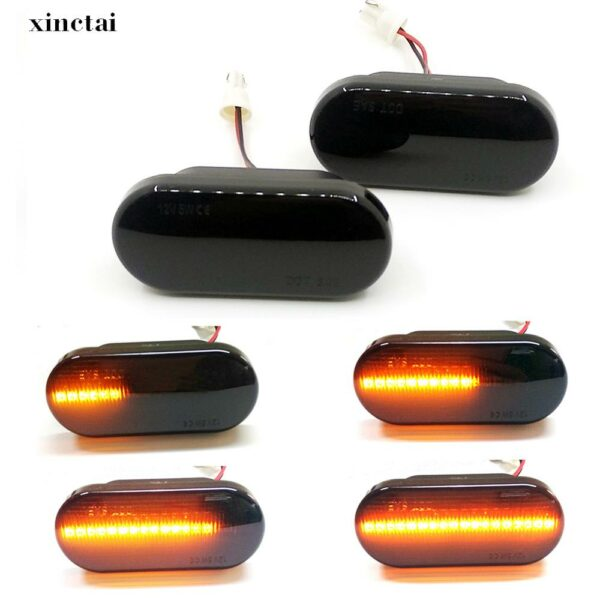 2PCS LED Dynamic Flowing Side Marker Turn Signal Light Lamp for Volkswagen VW Sharant Vento Ford C-Max Fiesta Focus Fusion