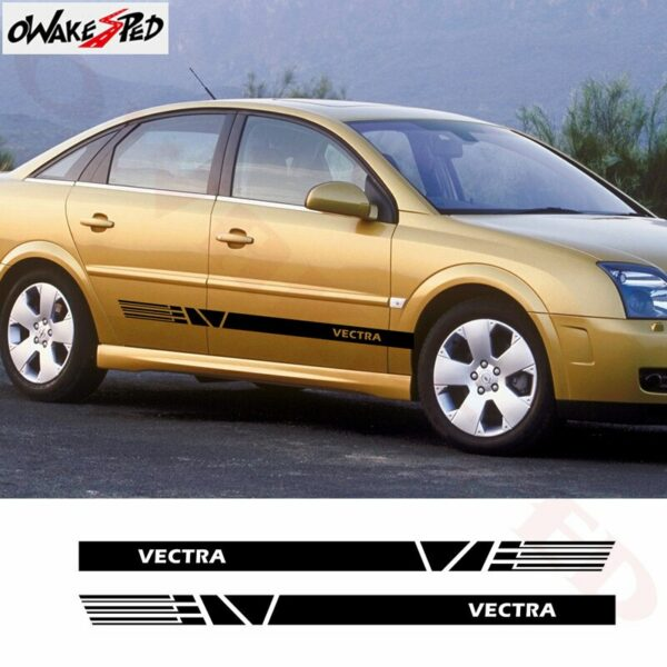 Car Stickers For-Opel Vectra b c Auto Side Stripes Skirt Decor Decals Car Body Door Sport Styling Stickers Vinyl Decals