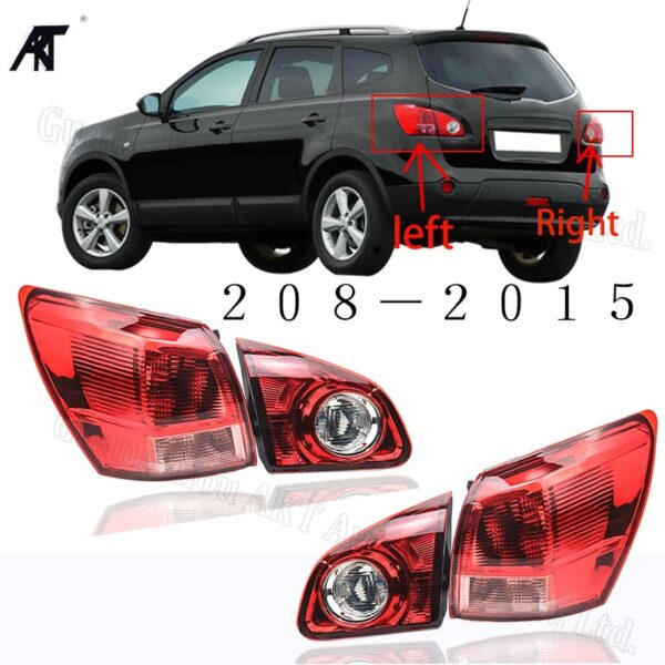 Inner & Outer Tail Light Tail Lamp For Nissan Qashqai Dualis J10 2008 2009 2010 2011 2012 2013 2014 2015