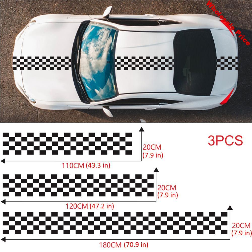 Long Stripe Car Stickers Auto Stylish Decals Vinyl Car Racing Sports Stickers Auto Decoration Accessories Long-term Durability