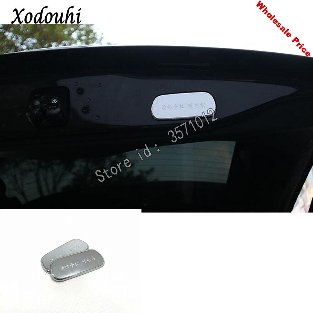 For Jeep Grand Cherokee 2014 2015 2016 2017 2018 car sticker styling cover Rear Tail Door Handle Bowl frame trim parts 2pcs