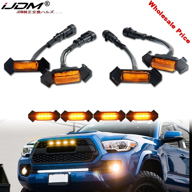 iJDM 6000K White/amber 12v Front Grille Lighting For car 2016-2020 Toyota Tacoma w/TRD Pro Grill ONLY Front Grille Lighting DRL