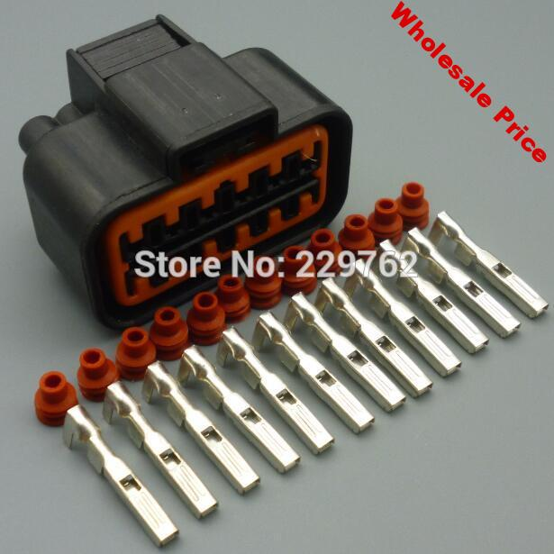 4/15/50/100sets 12 pin automotive headlight plug  12pin car auto female waterproof electrical wire connector PB625-12027
