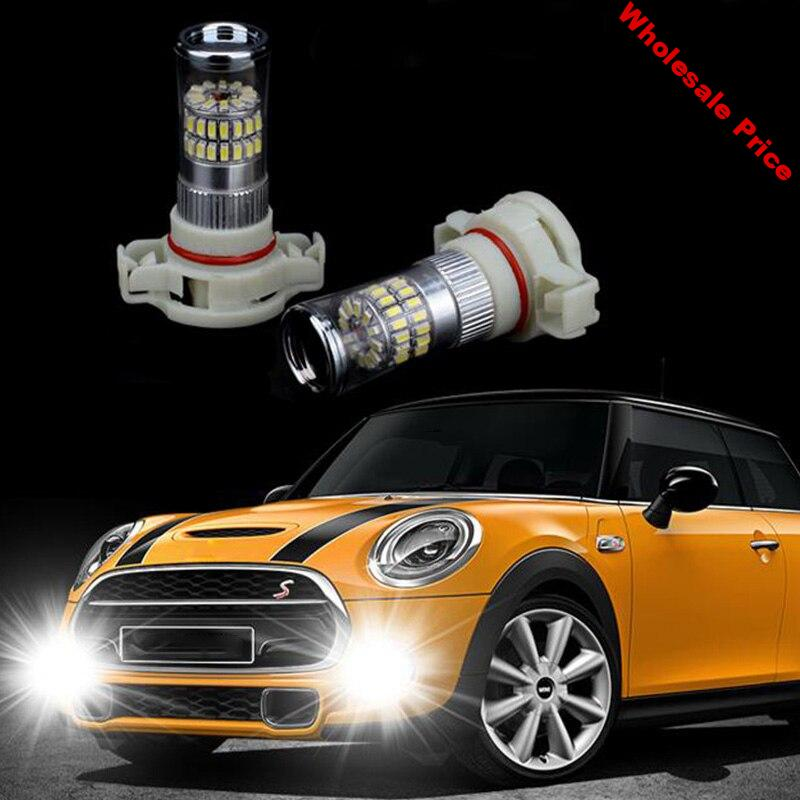 2pcs 3014 SMD Car LED Daytime Running Light Bulb Replacement Auto Headlight Lamp for Mini Cooper One S F55 F56 Car Accessories