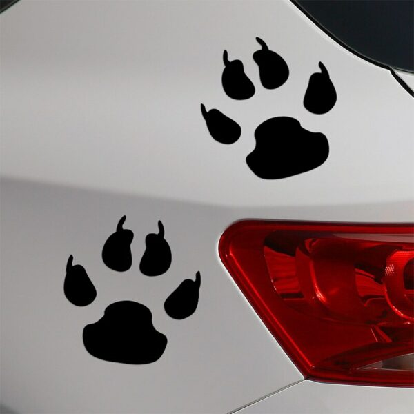 10 Pairs Customization Bear Footprint Stickers Decal Car-Styling For vw volkswagen audi ford bmw e46 Benz opel car accessories