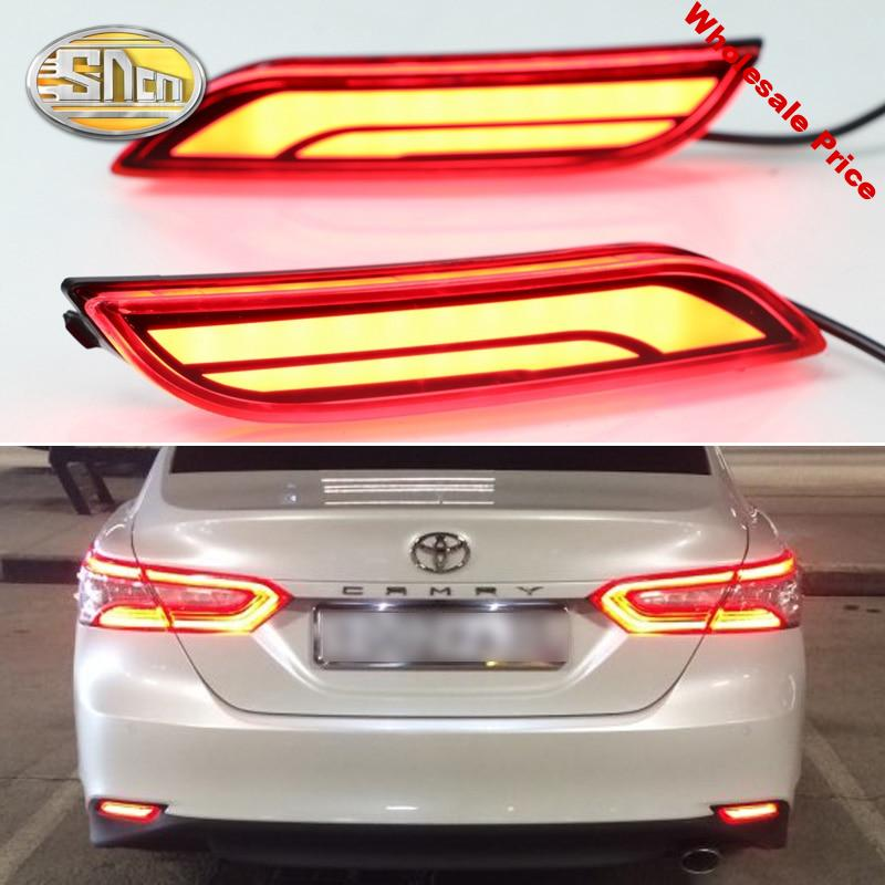 For Toyota Camry 2018 2019 Rear Bumper LED Tail Light Driving Lamp Turn Signal Lamp Rear fog lamp Accessories