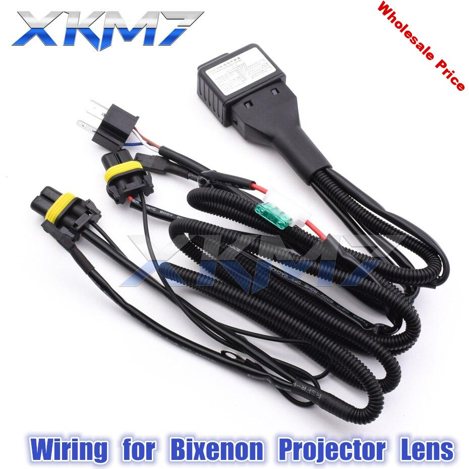 H4 9003 9004 9007 H13 Wiring For Car Headlight HID Bixenon Projector Lens Relay Harness Hi Low Beam Controller 12V 35W/55W