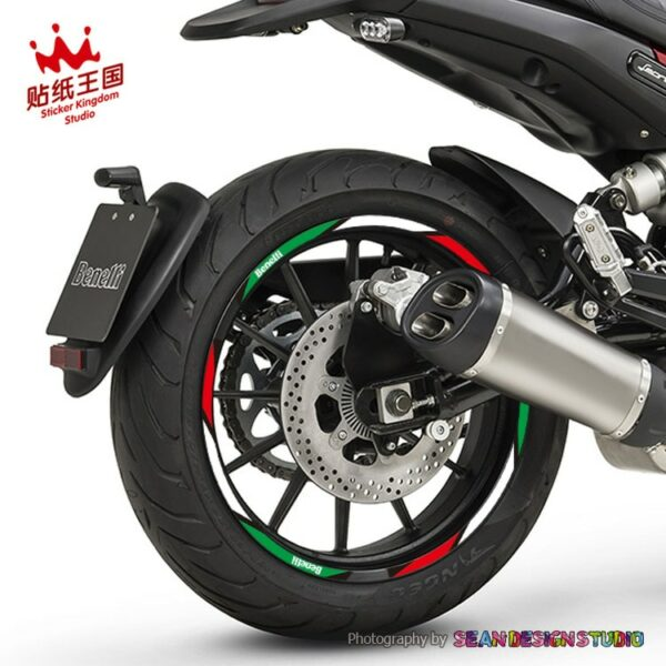 For Benelli BN 300 600 Leoncino 500 TNT899  Wheel Stickers Reflective Rim Stripe Motorcycle Decals Suitable 17 inch tires