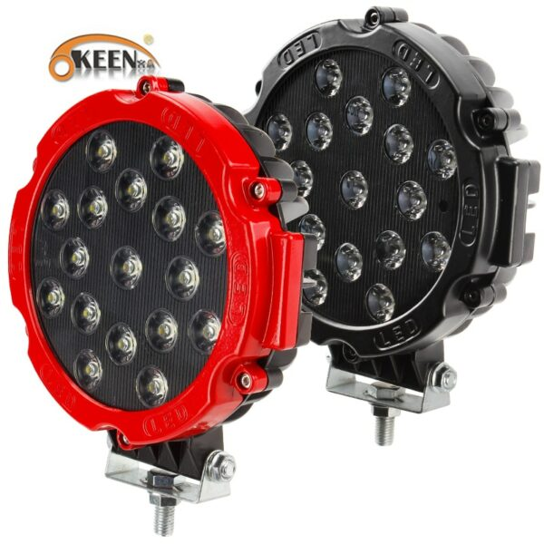 """OKEEN HIGH POWER 7"""" 51W LED WORK LIGHT WORKING SPOT/FLOOD DRIVING LIGHT BAR FOR OFF ROAD UTE 12V 24V 4x4 4WD BOAT SUV TRUCK JEEP"""