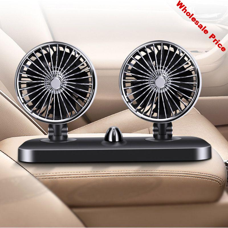 12V/24V Double-headed Cooling Electric Car Fan Auto Powerful High-wind Multipurpose Premium Quality Automobile Cooling