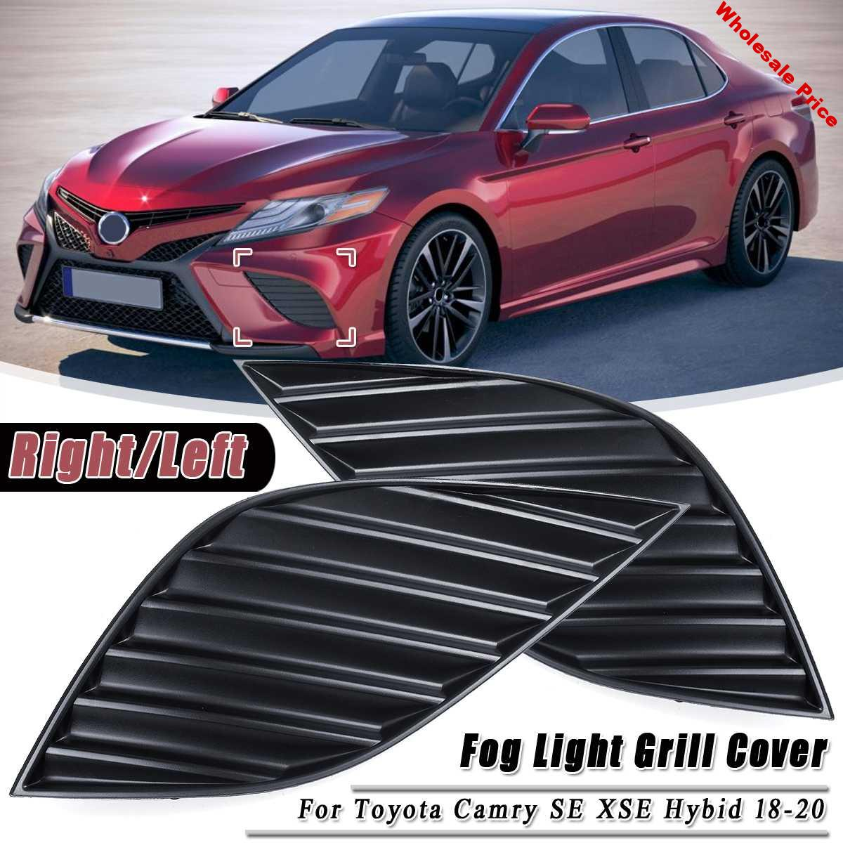 2PCS Bumper Bezels Fog Light Lamp Grill Cover Front Left Right For Toyota Camry for SE XSE Hybid 2018 2019 2020 Auto accessories