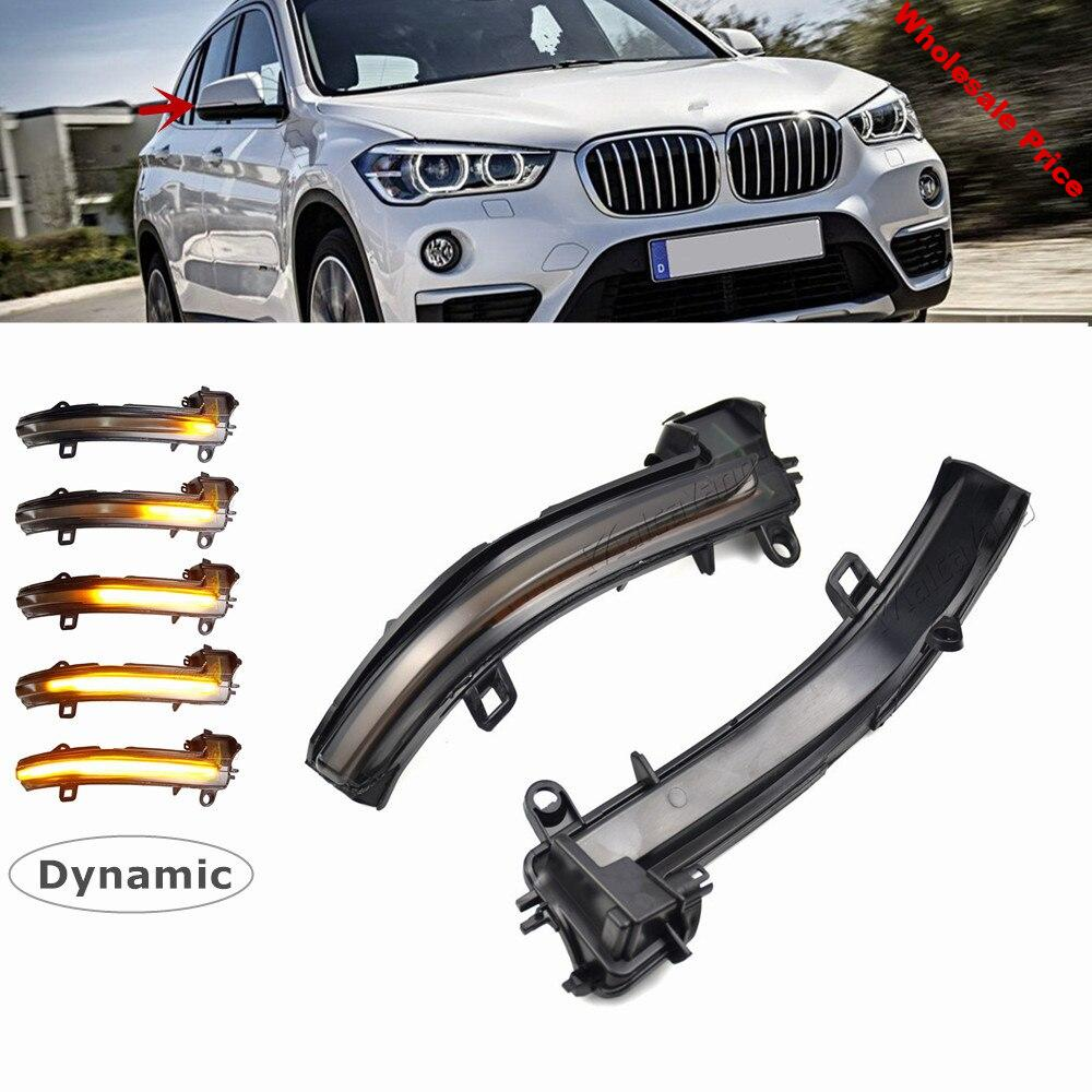 For BMW X1 F48 2016-2018 2 Series F45 F46 X2 F39 LED Dynamic Turn Signal Blinker Sequential Side Mirror Indicator Light Lamp