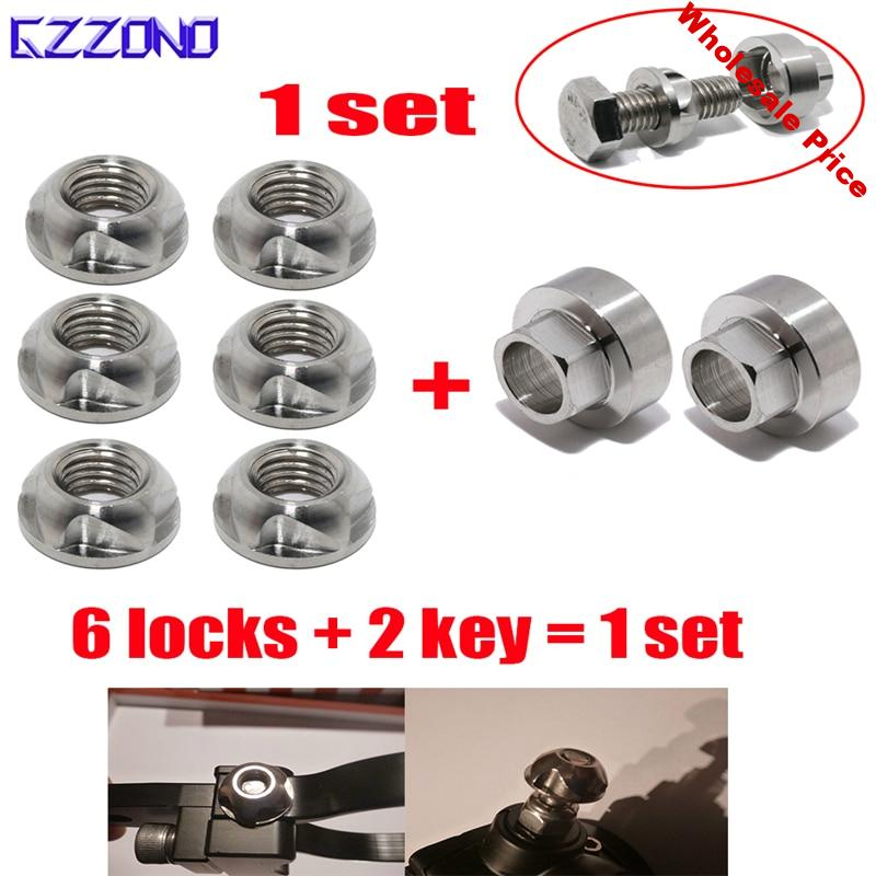 Security Anti Theft Screws Nuts Bolts M6 M8 M10 M12 316 Stainless Steel Lamp Holder Car Accessories For Car Styling LED Lights