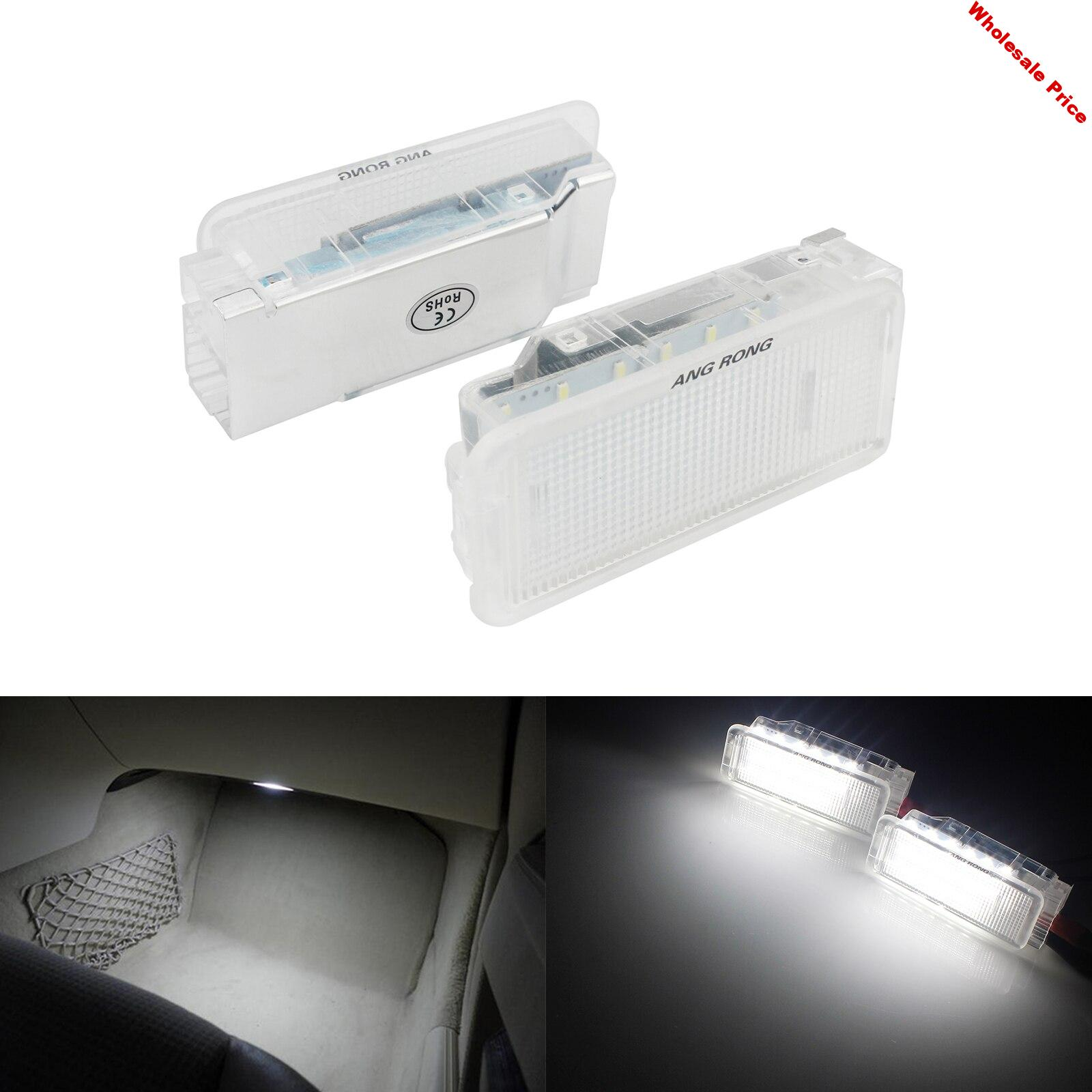 ANGRONG 2x LED Glove Box Trunk Footwell Door Interior Light For Peugeot 206 207 306 307 3008 406 407 5008