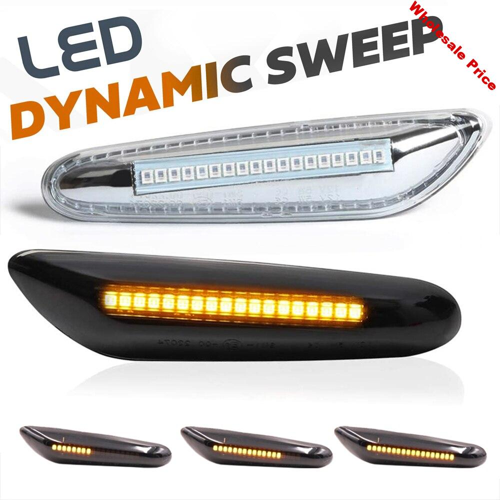 LED Dynamic Side Marker Light Sequential Turn Signal Lamp for BMW E46 X3 E83 X1 E84 E60 E61 E81 E82 E87 E88 E90 E91 E92 E93