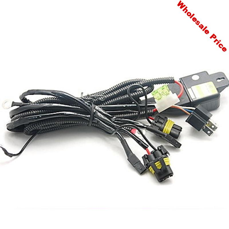 KELIMI Car HID H4 H4-3 Hi/Lo Controller Fuse Relay Cables Wire Wiring Harness 9003 HB2 55W 24V