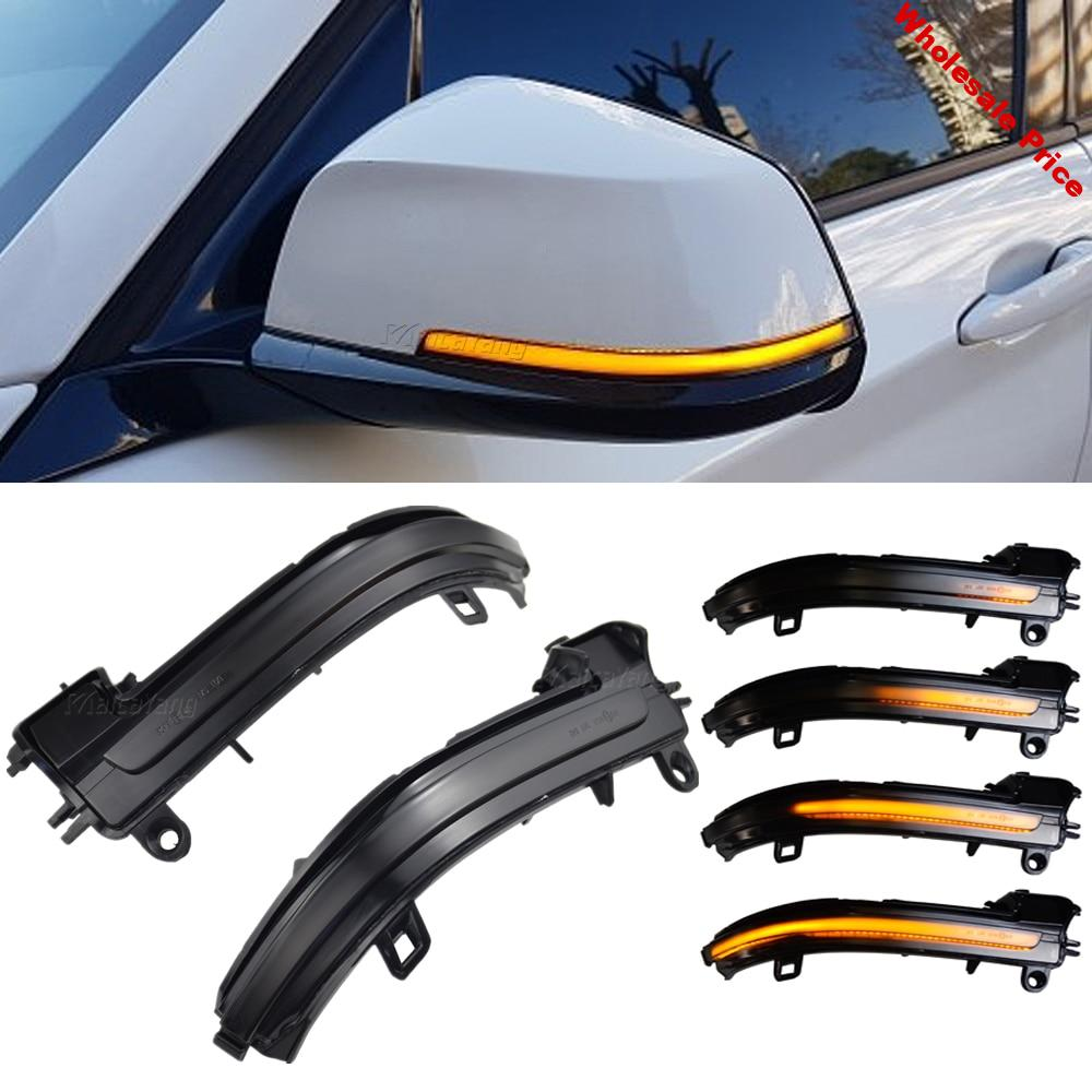 2PCS Smoked Side Mirror Sequential Blink Turn Signal Lights For BMW F20 F30 F31 F21 F22 F23 F32 F33 F34 X1 E84 1 2 3 4 series