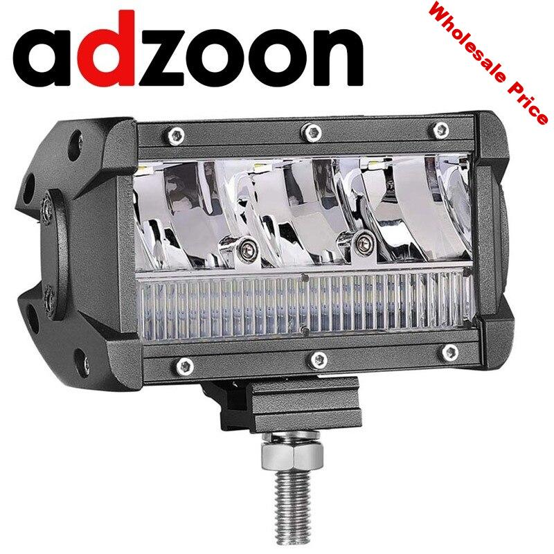 ADZOON LED Work Light 5 inch 65W Spot Flood Combo Beam Waterproof Off Road Light  Bar for Off Road Truck Bus Boat