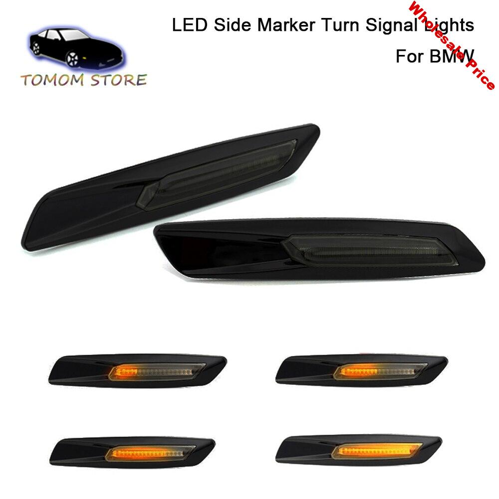 car water flowing indicator led side turn signal light marker For BMW E60 E61 E81 E82 E87 E88 E90 E91 E92 E93 X1 E84 X3 E83