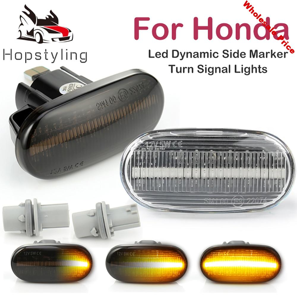 2Pcs LED Sequential Dynamic Side Turn Signal Indicator for Honda Prelude Civic CRX Del Sol Fit Accord Integra S2000 AP1 AP2 S2K