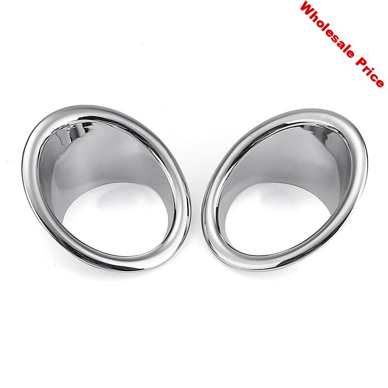 1 Pair Abs Chrome Front Fog Light Covers Trims Exterior Accessories For Ford Explorer 2011-2014