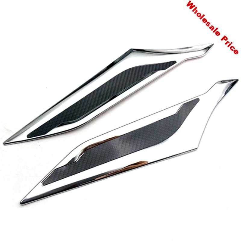 for Toyota Raize 2020 Car Accessories ABS Chrome Front Head Light Headlight Lamp Cover Trim Molding Frame