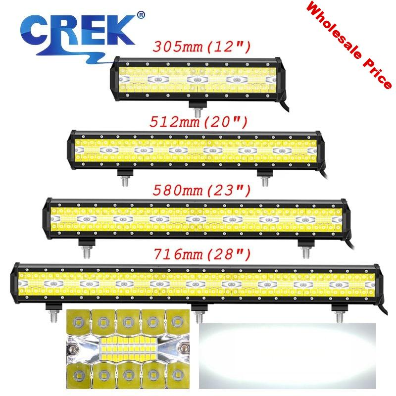 """CREK 12 21 23 28"""" UTV Offroad LED Work Light Bar Truck 4x4 4WD ATV Tractor LED Bar For 4WD 4x4 ATV SUV Tractor Offroad Truck"""