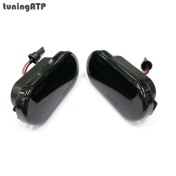 Smoked LED Dynamic Sequential Side Turn Signal Indicator Lamp For Volkswagen Polo 6N2 Polo 9N Polo Sedan Vento 1H2 Polo Fun Dune
