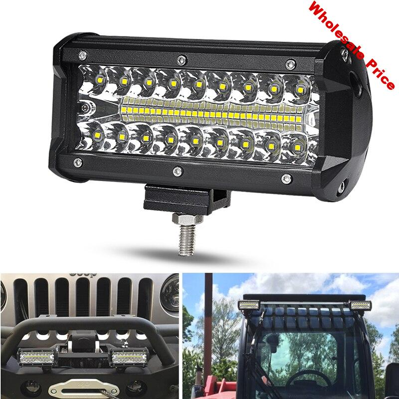 DERI Combo beam light bar work lights flood spot 7 inch led work light for Motorcycle Tractor Boat Off Road 4WD 4x4 Truck SUV