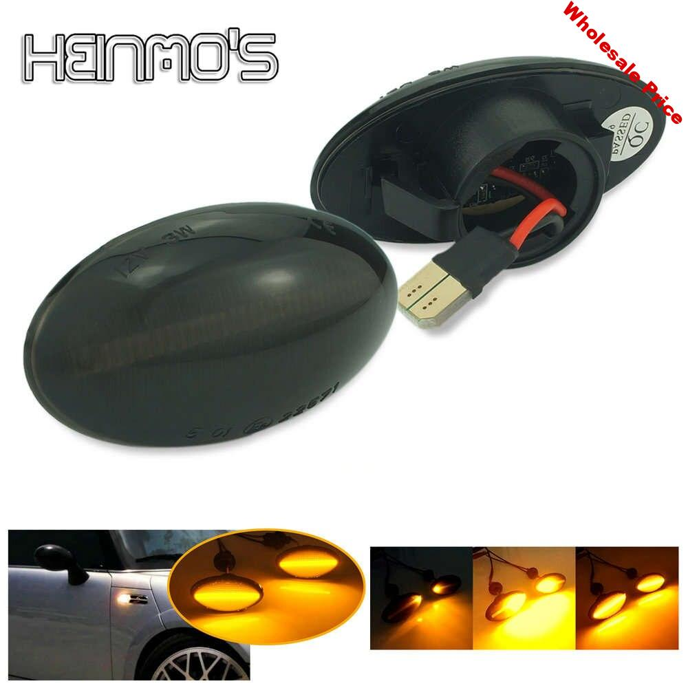 Dynamic Side Marker Lights For Mini Cooper Flowing Repeater Lamps For Mini Cooper R50 R52 R53 2002 2003 2004 2005 2006 2007 2008