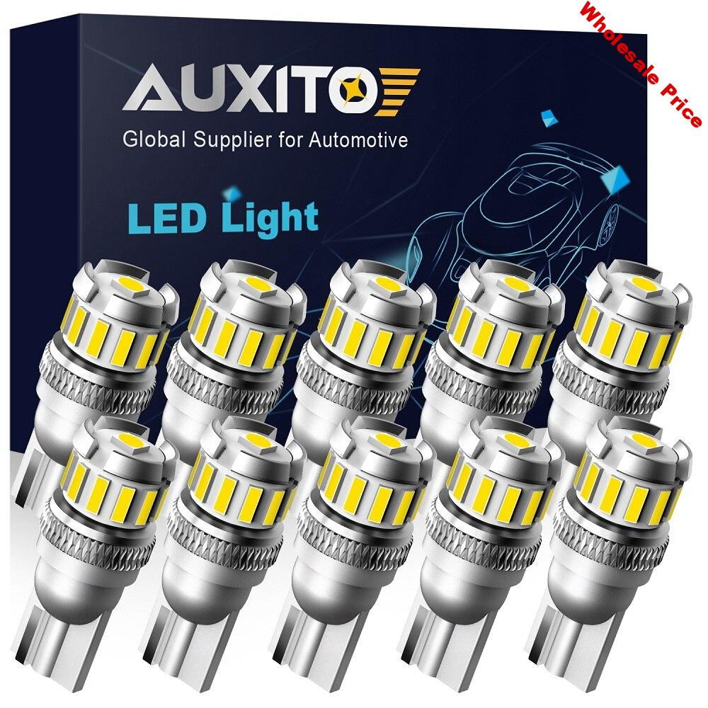 AUXITO 10x W5W T10 Led Canbus Car Parking Interior Lights For Skoda Octavia A5 A7 2 1 Rapid Fabia Superb Yeti Felicia RS Armrest