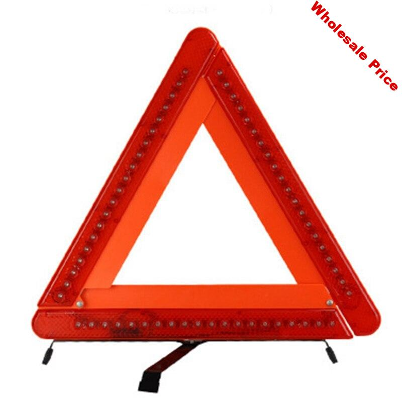 Car LED Red Warning Triangle Reflective Led Universal Auto Strips Reflective Tape Cars Reflectors Emergency Stop Sign