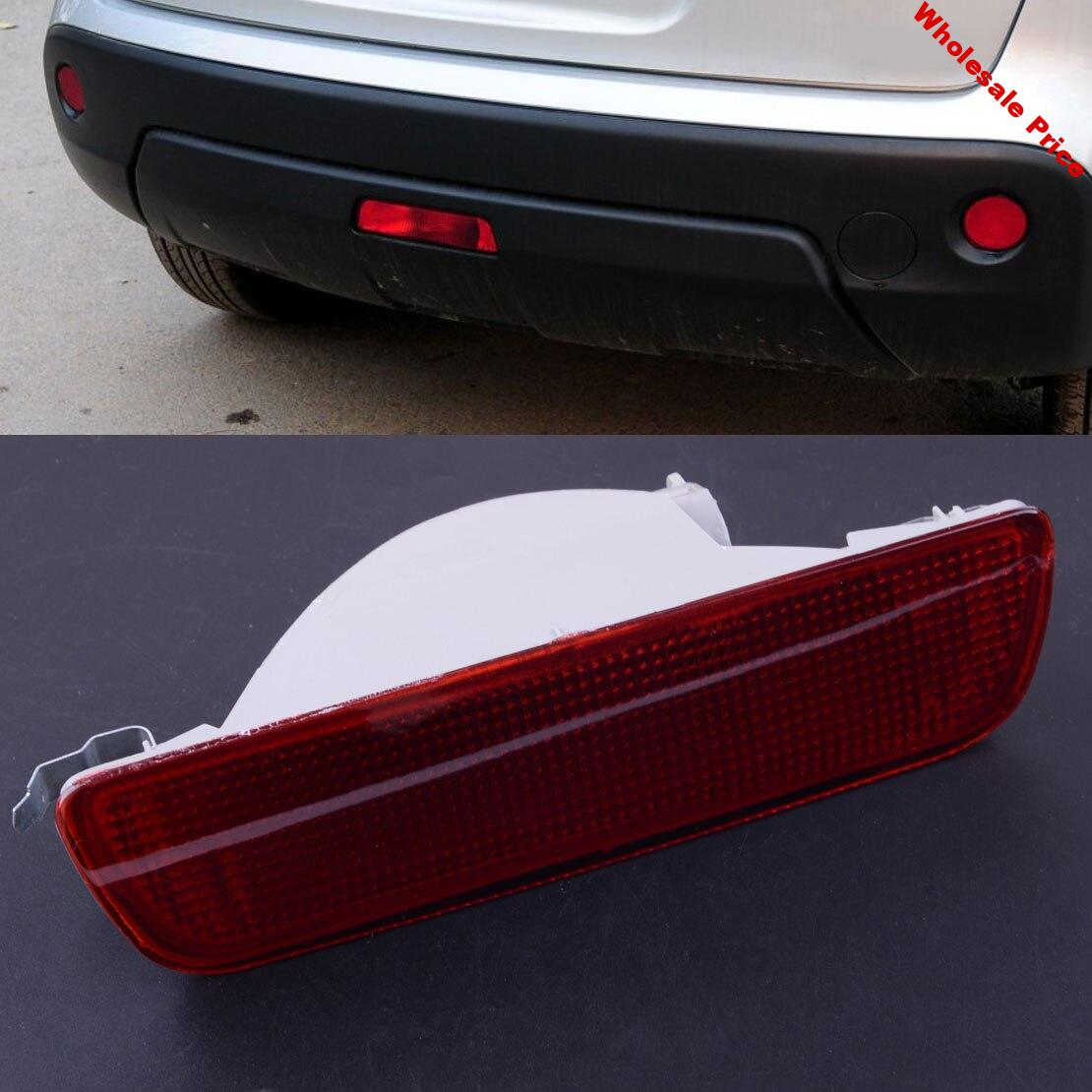 Red Rear Tail Central Bumper Reflector Fog Lamp Reverse Brake Lights Lamp Fit For Nissan Qashqai 2007 2008 2009 2011 2012 2013