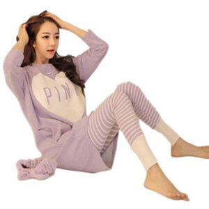 Pijama Feminino Inverno Cotton Long Sleeve Sweet And Lovely Spring And Autumn Korean Version Of Home Clothing Pajama Women's