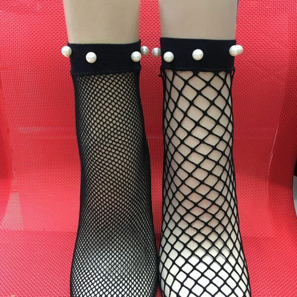Makuluya 10 pairs Summer Classic Diamond Hollow Out Pearl socks thin Sexy lace small mesh screw-type Chromatic net socks MSL6