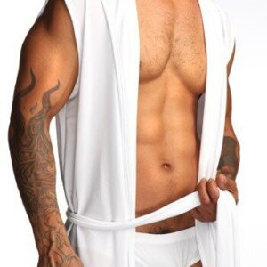 White Gray Brown Mens Short Robes 2019 Hot Sale Top Quality Cotton Bathrobe Men