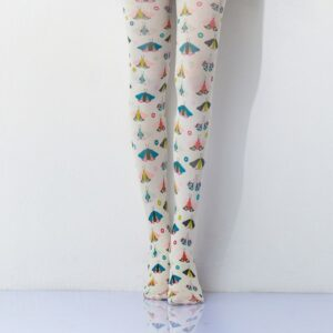 Artistic Butterfly Color Printing Women Pantyhose free shipping