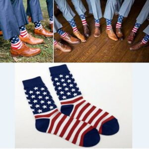3pcs/lot American Flag Cotton Socks Groomsmen Gift Socks for lovely Fashion traditional Wedding Groomsmen Sock