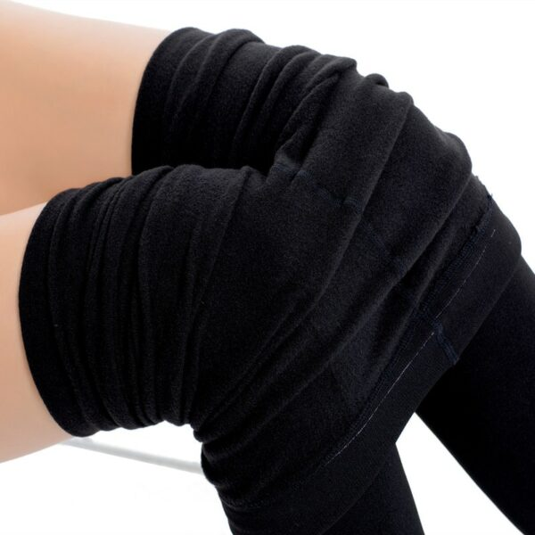 Sexy Women 300D Winter Warm Cotton Tights Microfiber Thermal Fleece Lined Cotton Pantyhose Women Plus Size Thick Warm Tights