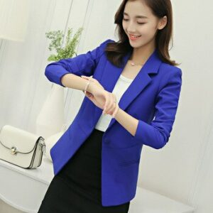 Women's suit jacket 2019 new autumn Korean version of the slim suit jacket female long-sleeved casual small suit