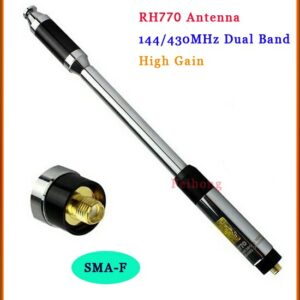 New RH770 Dual Band 144/430MHz High Gain SMA-F Telescopic Handheld Radio Antenna for Harvest Kenwood BAOFENG