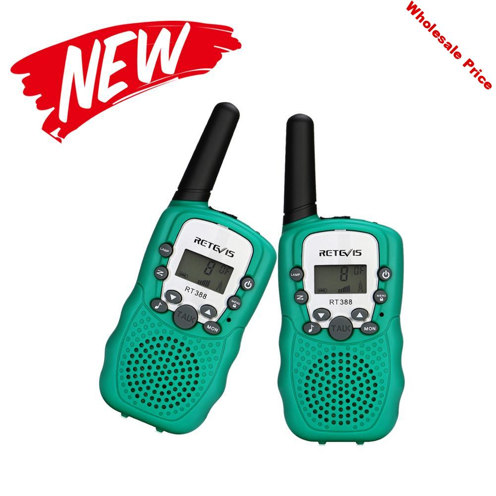 Retevis New RT388 Walkie Talkie Kids 2pcs Green PMR446 8 Channel Walkie-talkie PMR Portable Radio For Hunting Camping Fishing