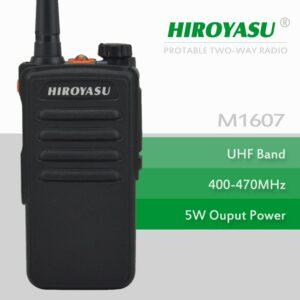 Cheap walkie Talkie HIROYASU M1607 UHF 400-470MHz 16Channels Portable Two-Way Radio