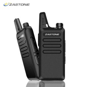 Zastone X6 Mini Walkie Talkie Pair Headset UHF 400-470 mhz Frequency Portable Handheld Radio Comunicador Two-Way Ham Radio