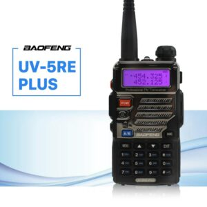 BaoFeng UV-5RE Plus Walkie Talkie CB VHF UHF Portable Ham Amateur Two Way Radio 5W Dual Band For Hunting Trucker