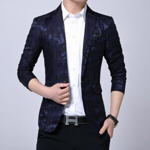New Spring Autumn Men Streetwear Blazer Casual Long Sleeve Coat Suit Jacket Blazer Top Slim Fit Mens Clothing Asian Size 5XL