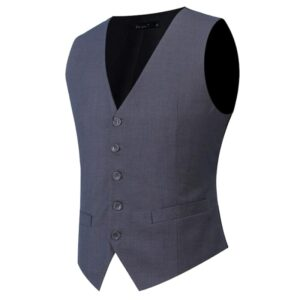 Plus Size S-7XL Fashion Slim Fit Sleeveless Mens Wedding Waistcoats 9 Colors Solid Waistcoat Men Dress Vests Y122306