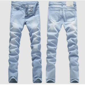 2019 spring and summer men's washed Denim jeans  Men's Clothing long casual pants male blue trousers 36