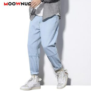 Male Streetwear Trousers Spring Summer Loose 2020 Pants  Jeans For Men Casual Ankle-length Sweatpants Hip Hop Denim Fit Designer